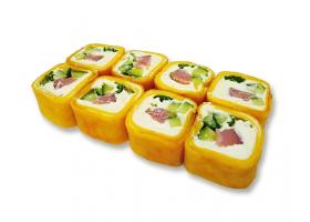 Жаренная тортилья с копченым лососем